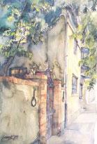 Watercolor by Jerzy Korszen.